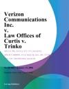 Verizon Communications Inc V Law Offices Of Curtis V Trinko