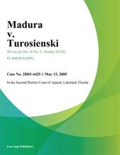 Madura V. Turosienski