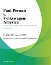 Paul Perona V Volkswagen America
