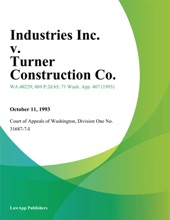 3A Industries Inc. V. Turner Construction Co.