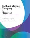 Fullhart Maytag Company V Stapleton
