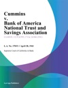 Cummins V Bank Of America National Trust And Savings Association