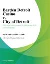 Barden Detroit Casino V City Of Detroit