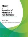 Mccoy V Warden Of Maryland Penitentiary