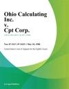Ohio Calculating Inc V Cpt Corp
