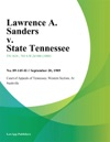 Lawrence A Sanders V State Tennessee