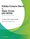 Elisha Genaro Davis V State Texas 011894