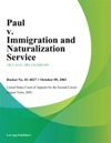 Paul V Immigration And Naturalization Service