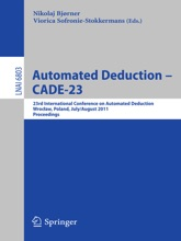 Automated Deduction -- CADE-23