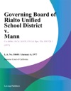 Governing Board Of Rialto Unified School District V Mann