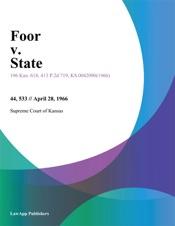 Download and Read Online Foor v. State
