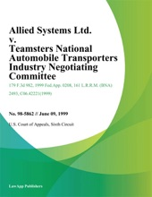Allied Systems Ltd. V. Teamsters National Automobile Transporters Industry Negotiating Committee