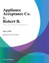 Appliance Acceptance Co V Robert B