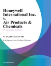 Honeywell International Inc V Air Products  Chemicals