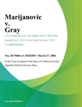 Marijanovic V. Gray
