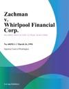 Zachman V Whirlpool Financial Corp