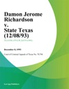 Damon Jerome Richardson V State Texas 120893