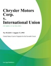 Chrysler Motors Corp V International Union