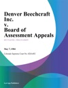 Denver Beechcraft Inc V Board Of Assessment Appeals