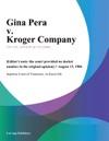 Gina Pera V Kroger Company