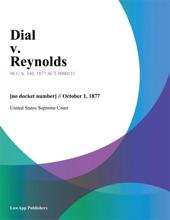 Dial V. Reynolds