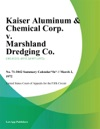 Kaiser Aluminum  Chemical Corp V Marshland Dredging Co