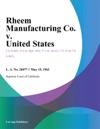 Rheem Manufacturing Co V United States