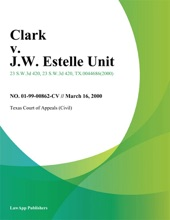 Clark V. J.W. Estelle Unit