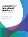 062194 Committee For Educational Equality V