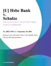 U Hsbc Bank V Schulze