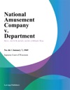 National Amusement Company V Department