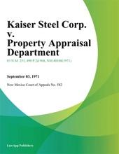 Kaiser Steel Corp. V. Property Appraisal Department