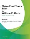 Metro Ford Truck Sales V William E Davis