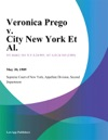 Veronica Prego V City New York Et Al