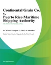 Continental Grain Co V Puerto Rico Maritime Shipping Authority