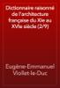 Eugène-Emmanuel Viollet-le-Duc - Dictionnaire raisonné de l'architecture française du XIe au XVIe siècle (2/9) artwork
