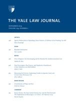 Yale Law Journal: Volume 124, Number 2 - November 2014