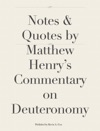 Notes  Quotes By Matthew Henrys Commentary On Deuteronomy