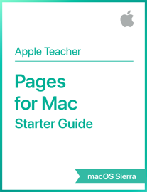Pages for Mac Starter Guide macOS Sierra book