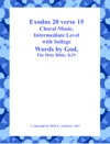 Exodus 20 Verse 15 Choral Music With Solfege Music