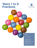 Years 1 to 3: Fractions