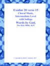Exodus 20 Verse 15 Choral Music-Intermediate Level With Solfege