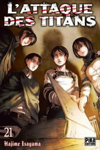 L'Attaque des Titans T21 La couverture du livre martien