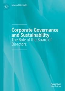 Corporate Governance and Sustainability Copertina del libro