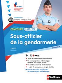 Concours externe Sous-officier de la gendarmerie - Catégorie B - Intégrer la fonction publique - 2020/2021