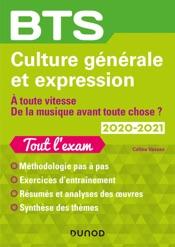 BTS Culture générale et Expression 2020-2021