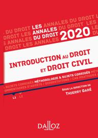 Annales Introduction au droit et droit civil 2020