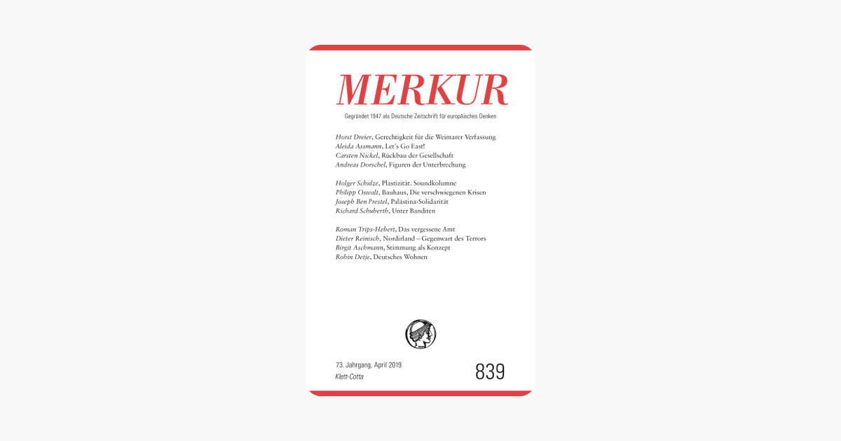 MERKUR Deutsche Zeitschrift für europäisches Denken: Heft 04 / April 2013 (German Edition)