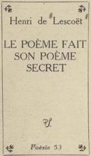 Le Poème Fait Son Poème Secret