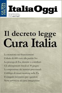 Il decreto legge Cura Italia Copertina del libro